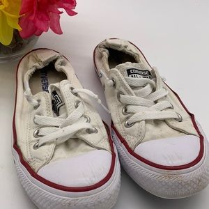 Converse All Star Low Rise white Red Sneaker - 6.5